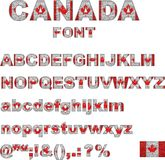 Шрифт флага Канады Стоковые Фотографии RF