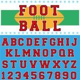 Шрифт шарика ноги Стоковое фото RF