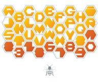 Шрифт шестиугольника Стоковое фото RF