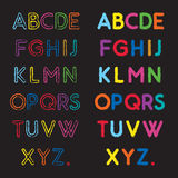 Шрифт Abc Стоковое фото RF