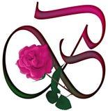 ШРИФТ b письма флористический Стоковая Фотография RF