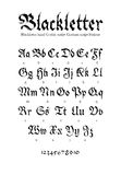 Шрифт Blackletter Стоковые Изображения RF