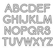 Шрифт Sans Serif вектора с округленными углами Стоковое Изображение