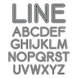 Шрифт Sans Serif вектора с округленными углами Стоковые Фотографии RF