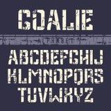 шрифт Sans Serif Восковк-плиты в стиле спорта иллюстрация штока