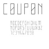 Шрифт Sans Serif минималистичного стиля Стоковое Фото