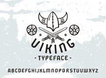 Шрифт Sanserif в историческом стиле Стоковые Фотографии RF