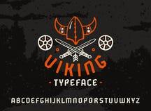 Шрифт Sanserif в историческом стиле Стоковое Изображение