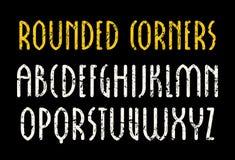 Шрифт Sanserif в новом готическом стиле с округленными углами Стоковое Изображение