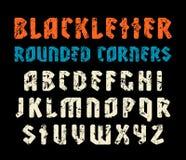 Шрифт Sanserif в стиле черной буквы с округленными углами Стоковое фото RF