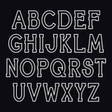Шрифт serif вектора Стоковые Изображения RF