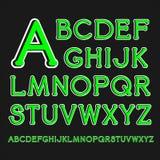 Шрифт Serif с округленными углами Стоковое Изображение RF