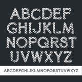 Шрифт serif текстуры вектор Стоковая Фотография