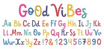 Шрифт Uppercase и алфавита lowcase милый стоковые фотографии rf