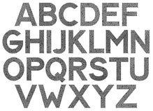 Шрифт Uppercase картины чужеземца футуристический старый Стоковое Изображение