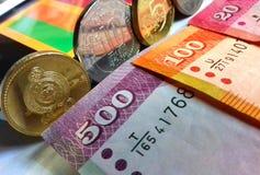 Шри-Ланка & x27; деньги и флаг s стоковые фото