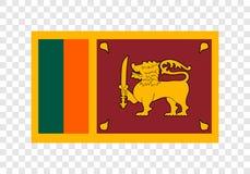 Шри-Ланка - национальный флаг иллюстрация штока