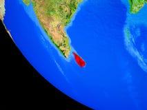 Шри-Ланка на земле от космоса иллюстрация штока