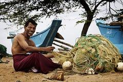 Шри-Ланка: Рыболов Sri Lankan Стоковые Изображения