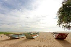Шри-Ланка - Ahungalla - где заход солнца спокоен и мирн стоковое изображение rf