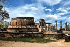 Шри-Ланка Polonnaruwa Polonnaruwa Vatadage стоковые изображения rf