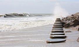 штабелевки пляжа Стоковое Изображение RF