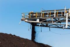 Штабелеукладчик угля и Reclaimer угля минируя машинное оборудование, или горное оборудование в горнодобывающей промышленности как Стоковое Изображение RF