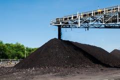 Штабелеукладчик угля и Reclaimer угля минируя машинное оборудование, или горное оборудование в горнодобывающей промышленности как Стоковое Фото