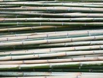 Штабелировал бамбуковый поляка Стоковые Фото