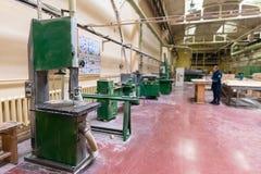 Штабелированная деревянная продукция тимберса сосны для обрабатывать, мебель стоковые фото