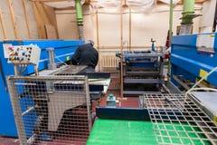 Штабелированная деревянная продукция тимберса сосны для обрабатывать, мебель стоковое фото rf