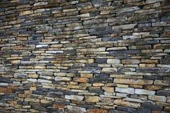 штабелированная каменная стена стоковое фото rf