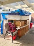 Штабелированная мебель готовая для двигать Стоковые Изображения RF