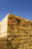 штабелированная пиломатериалом древесина тимберса Стоковые Фотографии RF