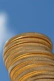 штабелированное золото монеток Стоковые Изображения RF