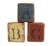штабелированные блоки abc стоковая фотография rf