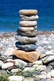 Штабелированные камни представляя баланс Стоковые Фотографии RF