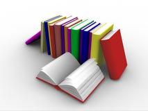 штабелированные книги 3d Стоковое Изображение