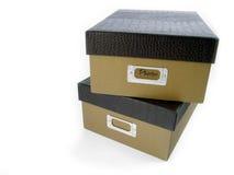 штабелированные коробки стоковое фото