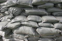 штабелированные мешки с песком Стоковое фото RF