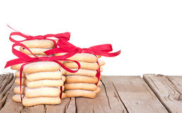Штабелированные печенья Кристмас Стоковые Фото