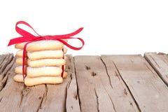 Штабелированные печенья Кристмас Стоковая Фотография RF