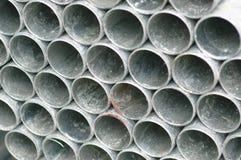 штабелированные трубы металла Стоковое Фото