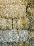 Штабелированные Bales сена Стоковая Фотография
