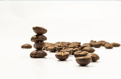 штабелированный кофе фасолей Стоковое фото RF