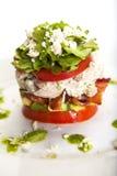 штабелированный салат cobb стоковые изображения