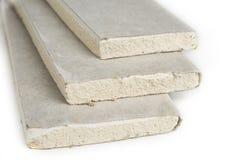 Штабелировать белых панелей, гипсокартона или штукатурной плиты гипса стоковое изображение rf