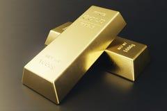 Штабелируйте золото в слитках конца-вверх, вес золота в слитках 1000 граммов концепции богатства и запас Принципиальная схема усп Стоковое фото RF