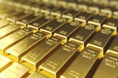 Штабелируйте золото в слитках конца-вверх, вес золота в слитках 1000 граммов концепции богатства и запас Принципиальная схема усп бесплатная иллюстрация