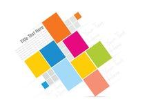 Штабелированная красочная иллюстрация предпосылки вектора коробок Стоковые Фотографии RF